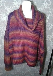 Mossimo multicolored oversized knit sweater